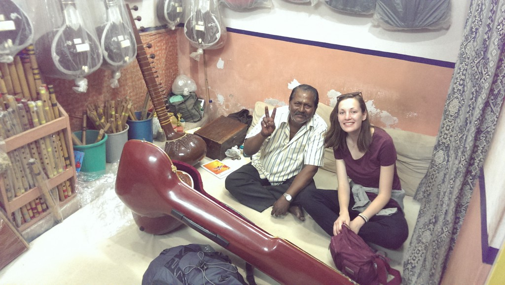 Hats with Ramesh Dey - the sitar teacher I bought my new instrument from