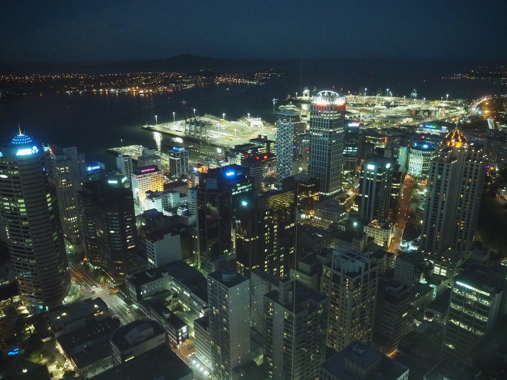 Auckland at night from the Sky Tower