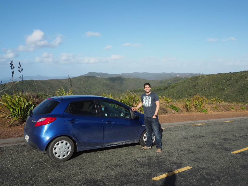 Me and Speed Demon at Cape Reinga