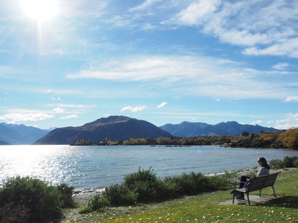 Hats in front of the Wanaka lake