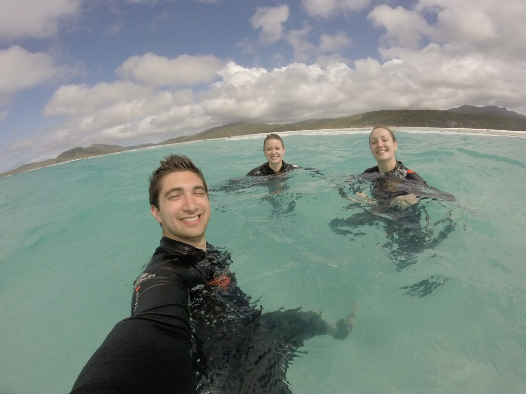 Selfie in the sea