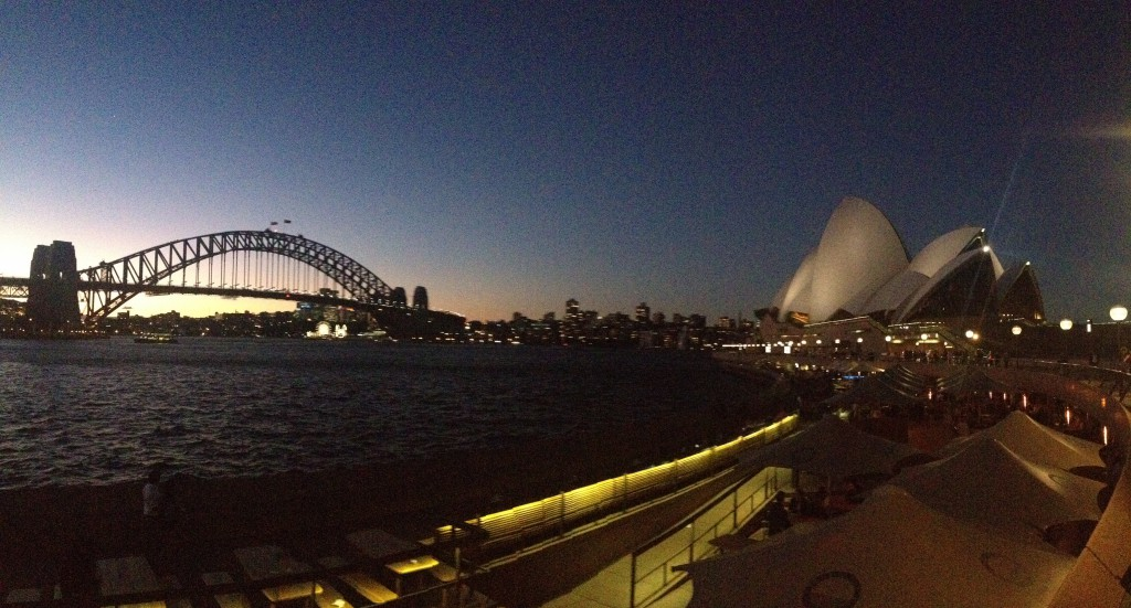 Sydney horizon at night