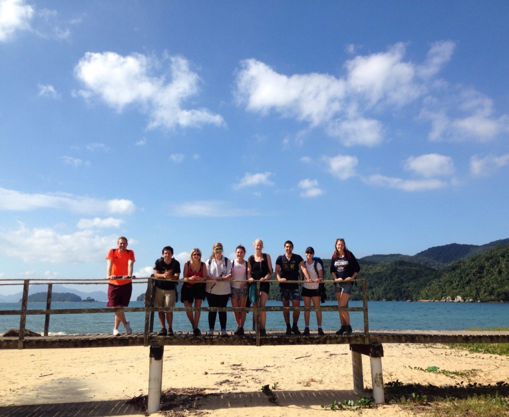 The G Adventures group + 2 new members for the day on our trek to Lopez Mendez