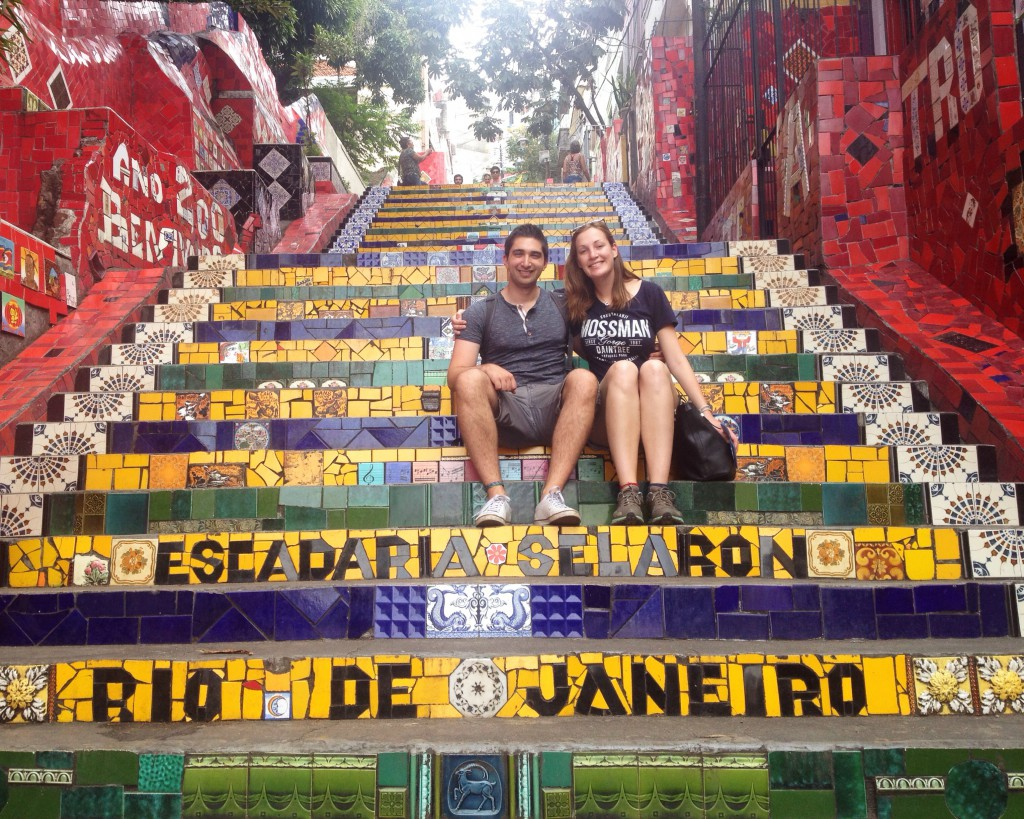 Posing on the Escadaria Seleron stairs with no people! (we found a 5 second gap)
