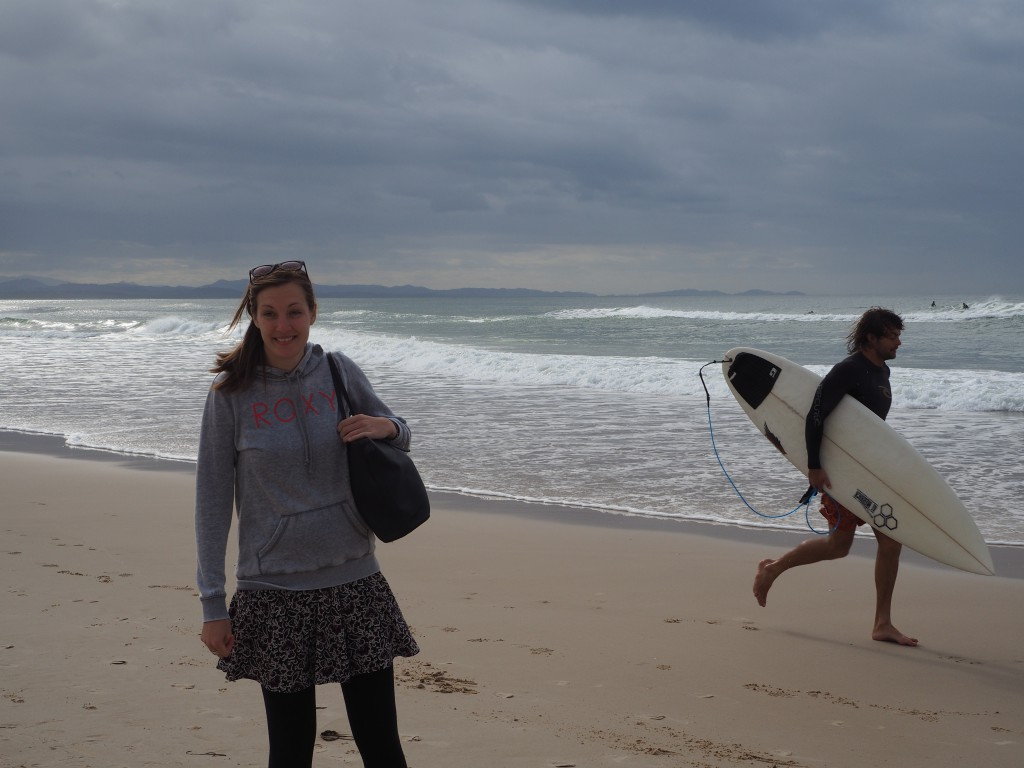 Cheeky surfer snap at Byron Bay