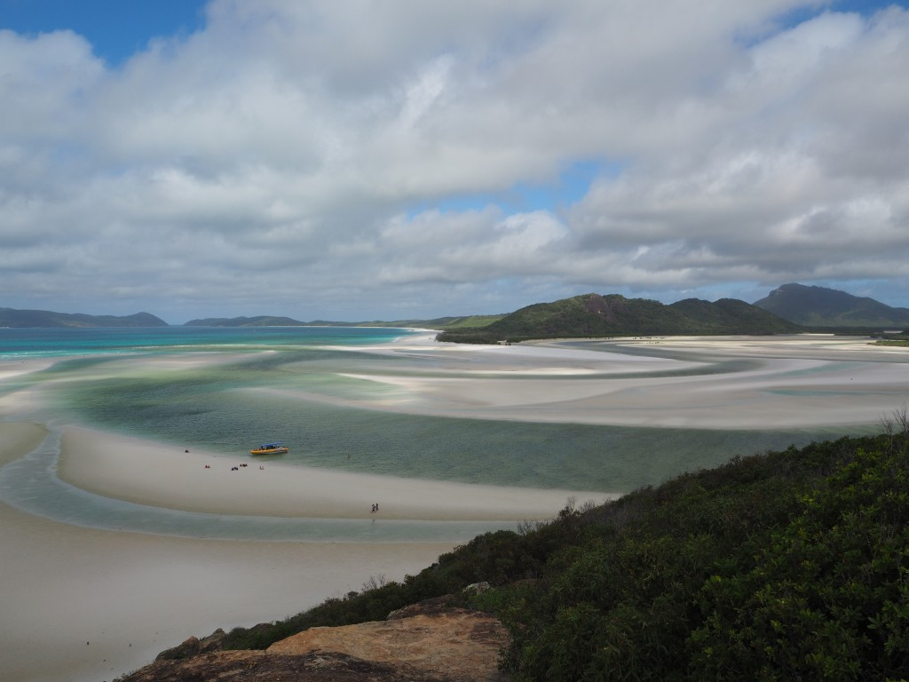 Whitehaven beach view from Hill Inlet