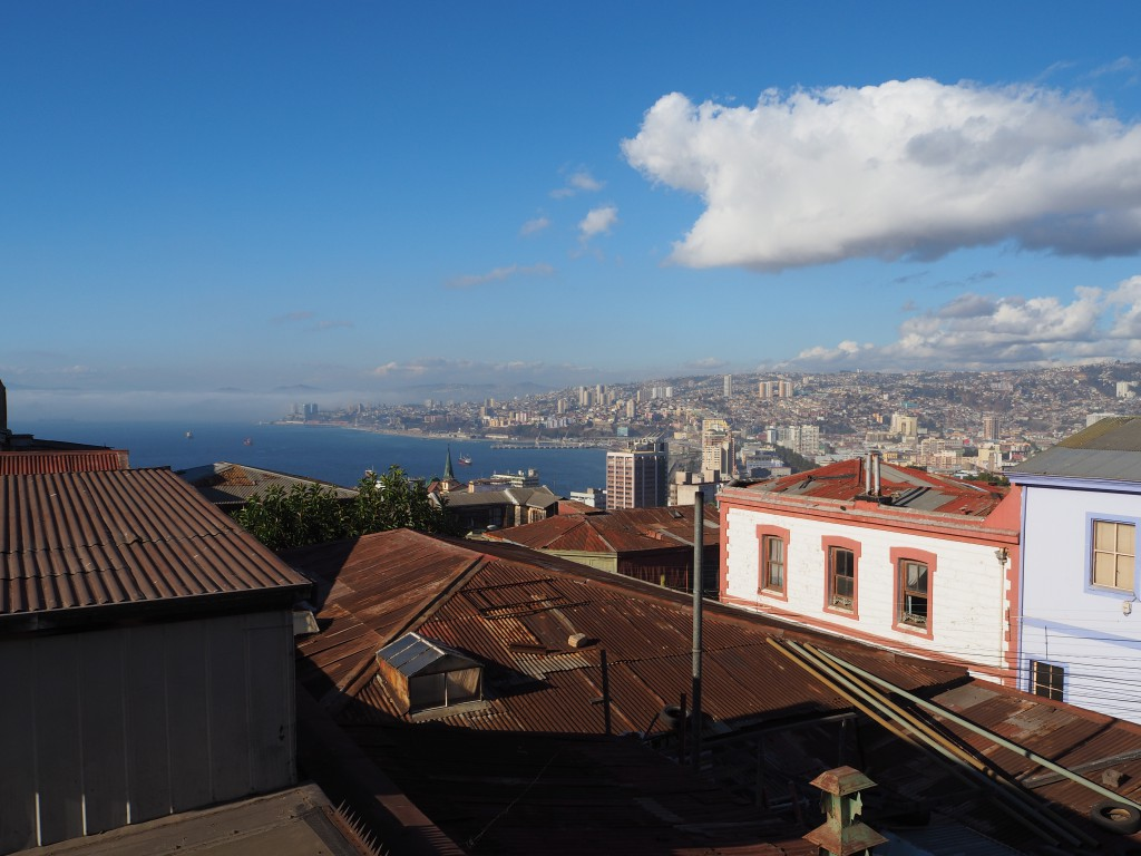 The view from our hostel on top of the hill in Valparaiso