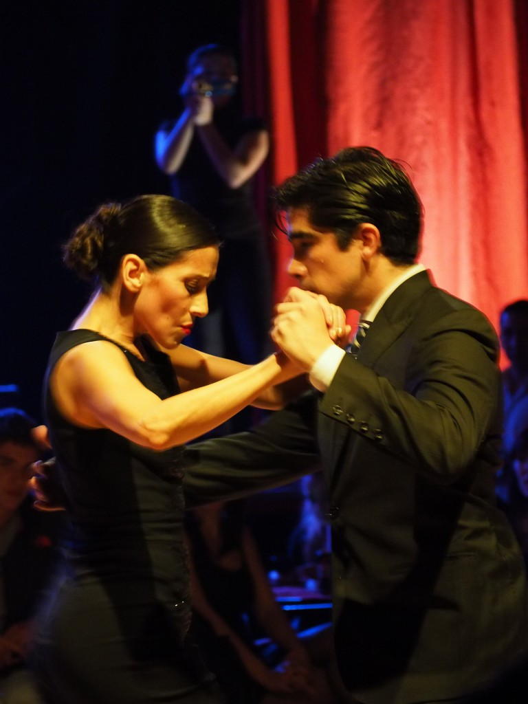 ...and the professional tango dancers
