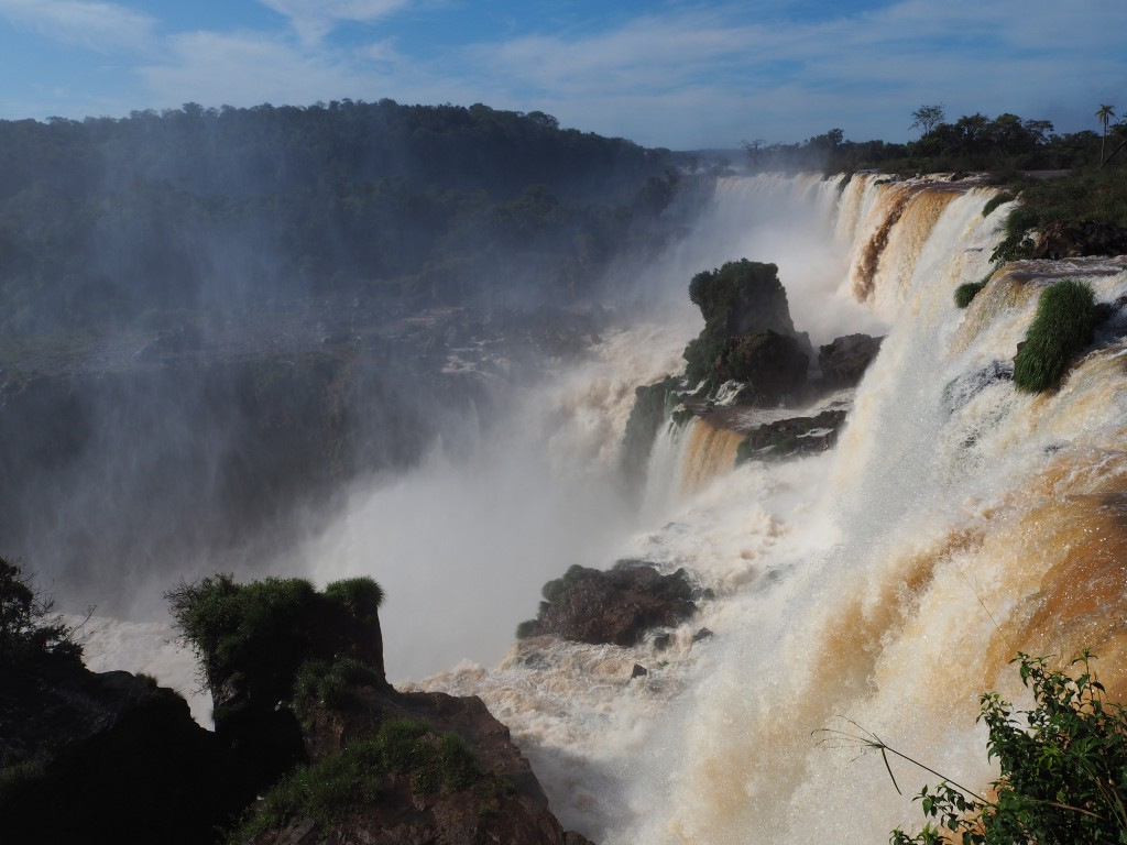 The Argentinian side of Iguazu Falls allowed us to get very close to the water