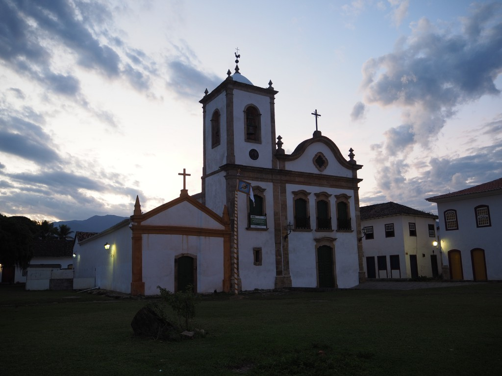 Stunning (if a little quiet) Paraty on the night we arrived (before the rain came)