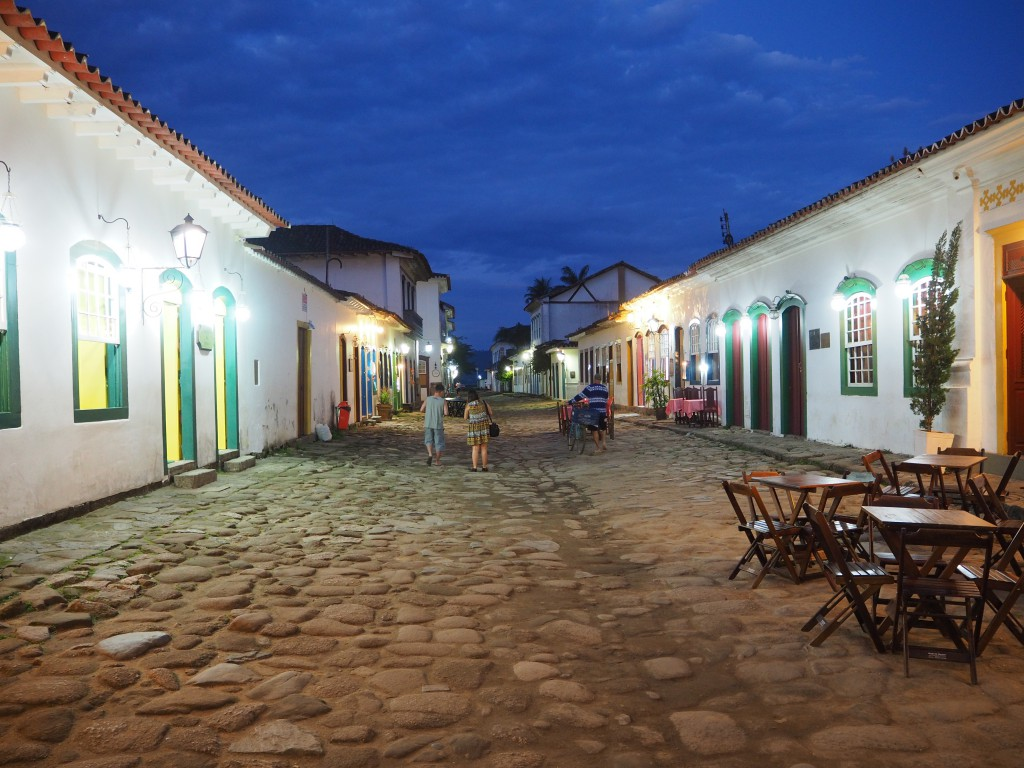 The cobbled streets of colonial Paraty