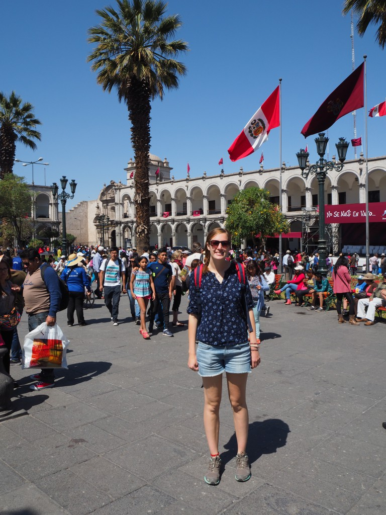 Hat in Arequipa's main square