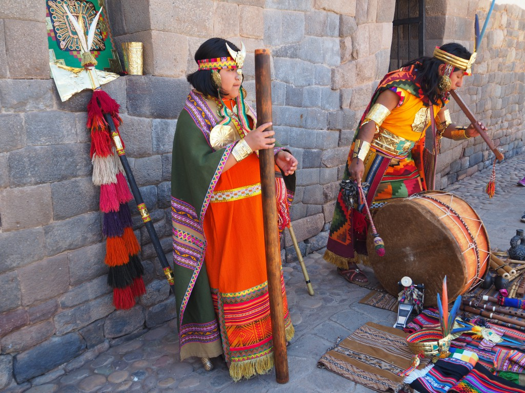A traditional music performance on our walking tour by some Inca descendants