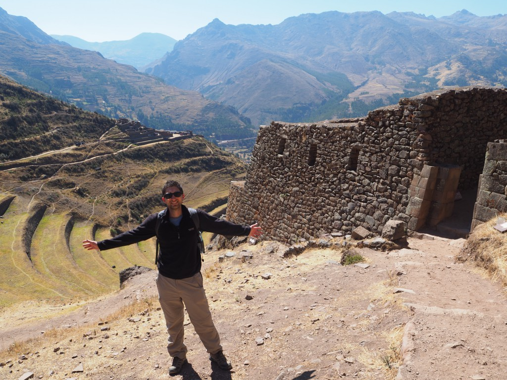 Ruins in Pisac - complete with traditional farming terraces (on the left) that we saw all the time