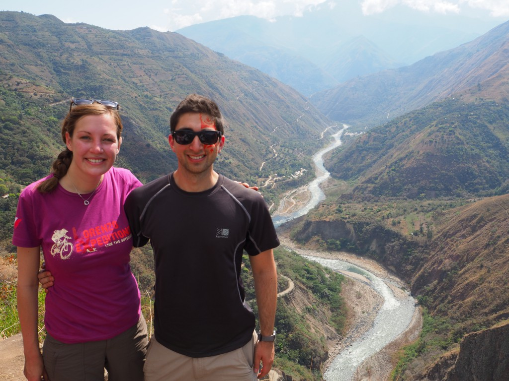 Me and Hats in front of the Urubamba Valley on the main trekking day of our Inca trail