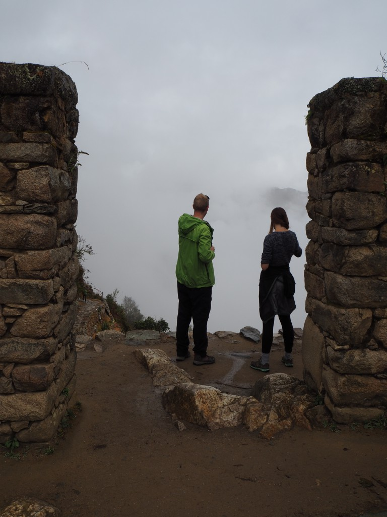 When we first reached Sun Gate, I don't think Matt and Hat were too pleased at the view...