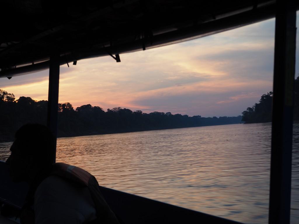 The beautiful Amazonian sunsets
