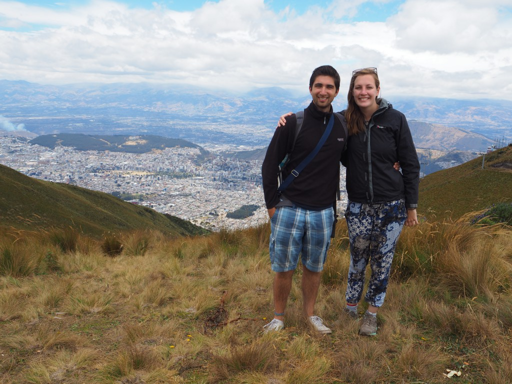 The view from the top of Quito!