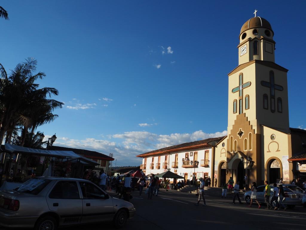 The church in Salento's main plaza