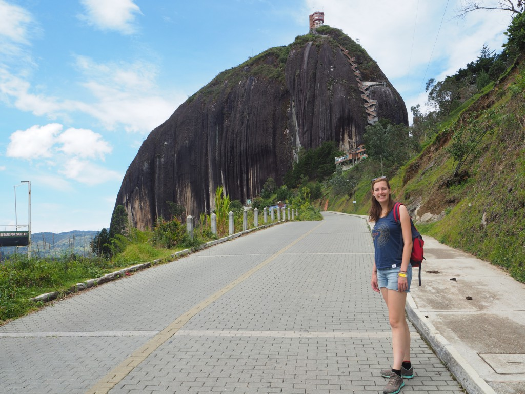 La Piedra in Guatape. Those zig-zags leading up on the rock were stairs we had to climb...