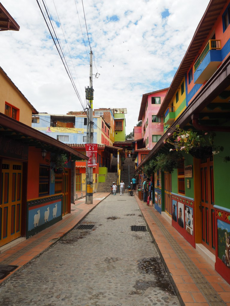 The colourful but quiet streets of Guatape
