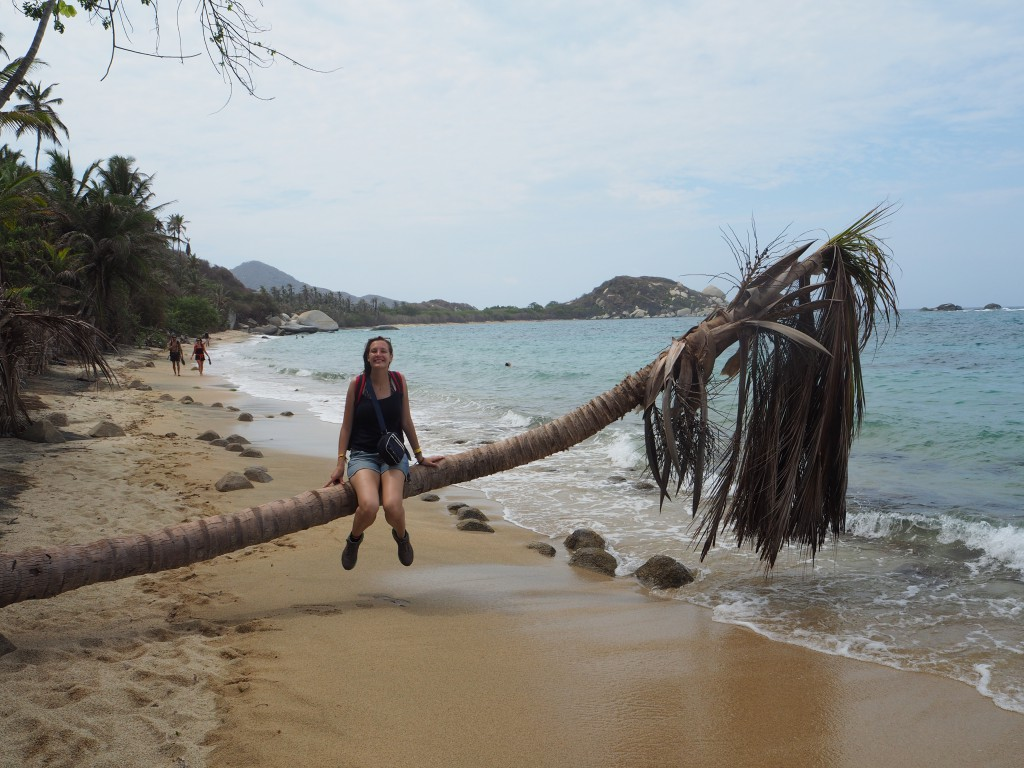 Post-swim on one of the beaches in Tayrona National Park